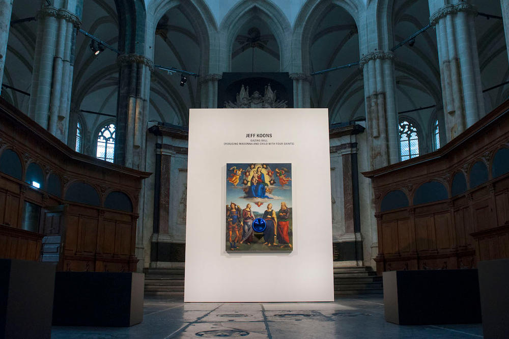 jeff koons gazing ball nieuwe kerk amsterdam church art artwork sculpture painting installation exhibition
