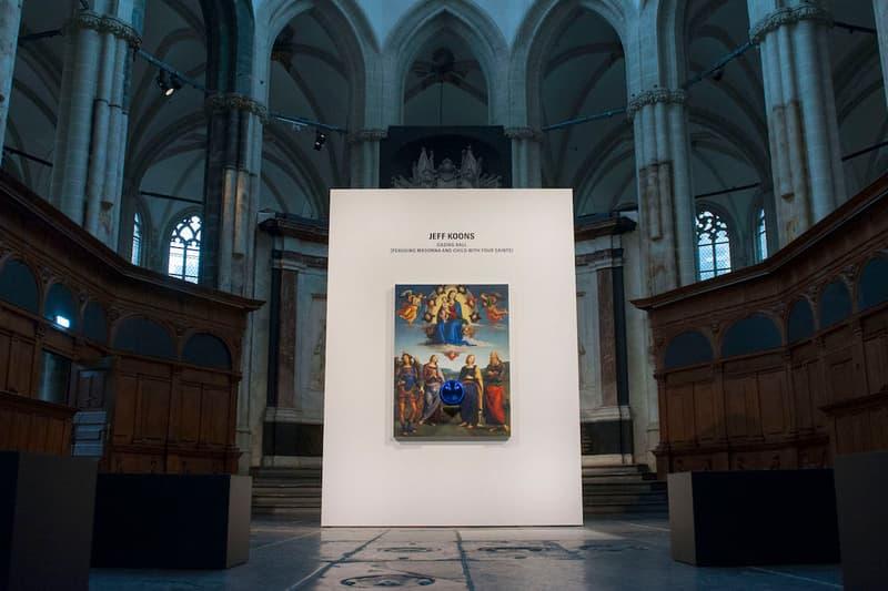 jeff koons gazing ball nieuwe kerk amsterdam church art artwork sculpture painting installation exhibition