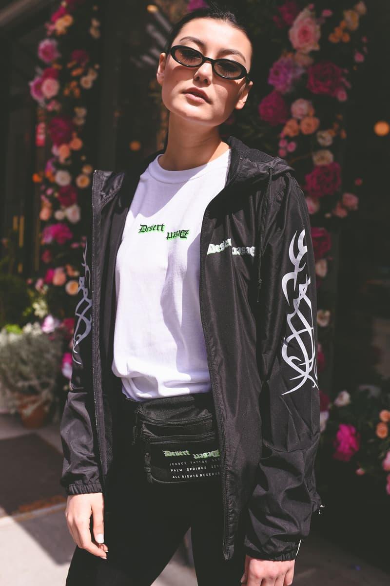 Jonboy desert capsule drop release collection spring summer 2018 bag waist fanny shoulder tee t shirt jacket tattoo art work bandana april 13 2018