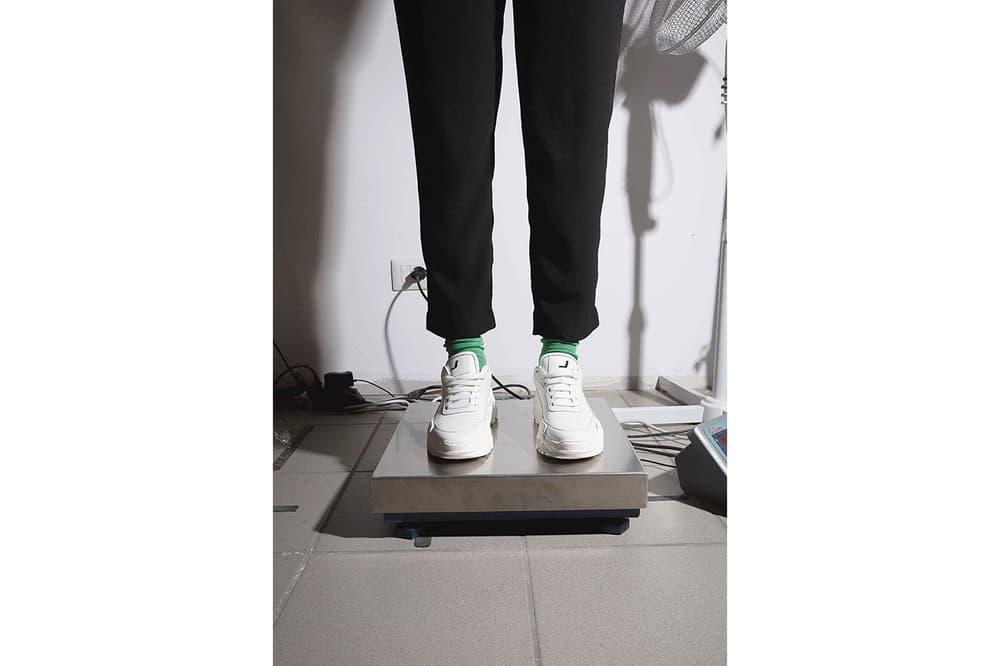 "JOSHUA SANDERS Holographic ""Zenith"" Sneaker Black White Light Holo Crash Holo Flirt Grey Jersey Colorways Chunky Sneaker Trend"