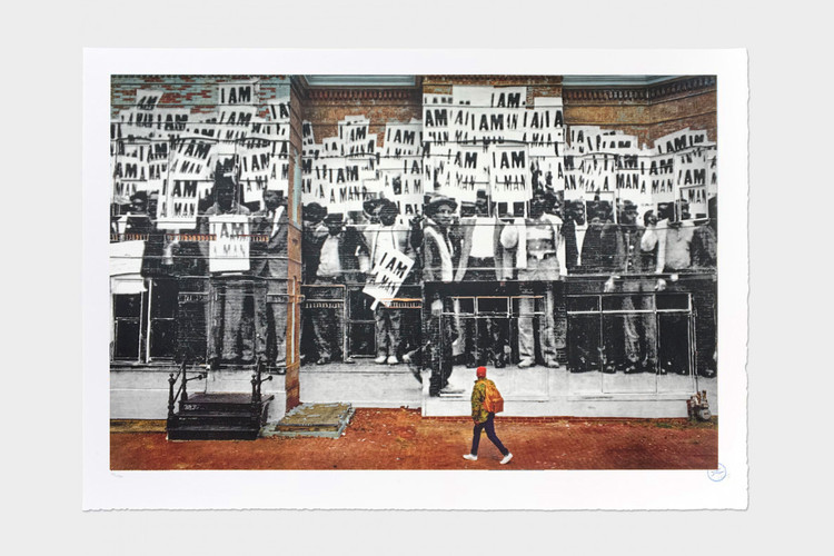 5b29fa7aa5 JR's New 'I am a Man' Print Honors Martin Luther King Jr.'