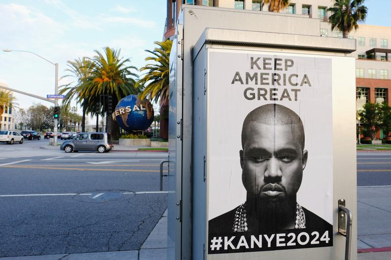 Kanye West Keep America Great Posters Trump NYC Chicago Los Angeles LA  Album Leak Single Music Video EP Mixtape Download Stream Discography 2018 Live Show Performance Tour Dates Album Review Tracklist Remix