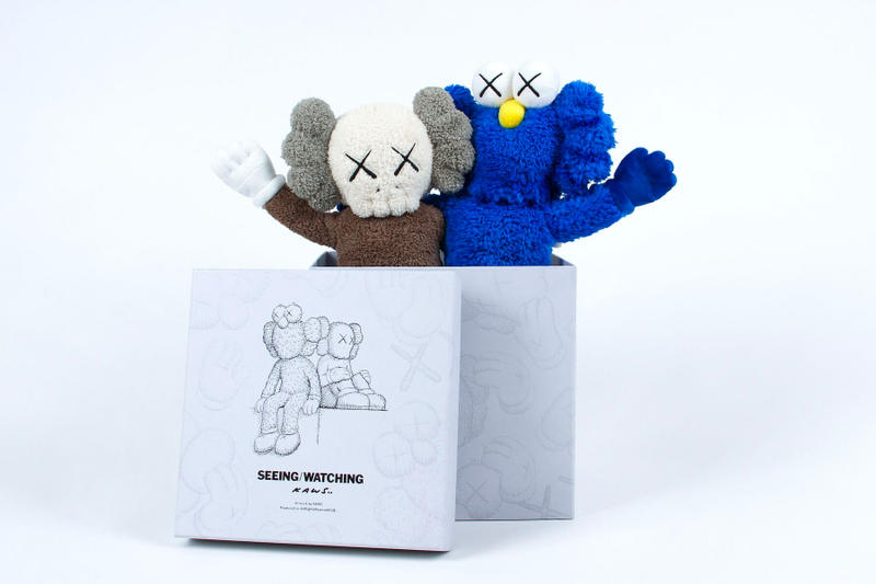 KAWS SEEING/WATCHING BFF Companion Changsha International Finance Square IFS China Bronze Art Sculpture Installation Pre-Sale Release Plush Key Chain T-shirt Glass Tote Bag