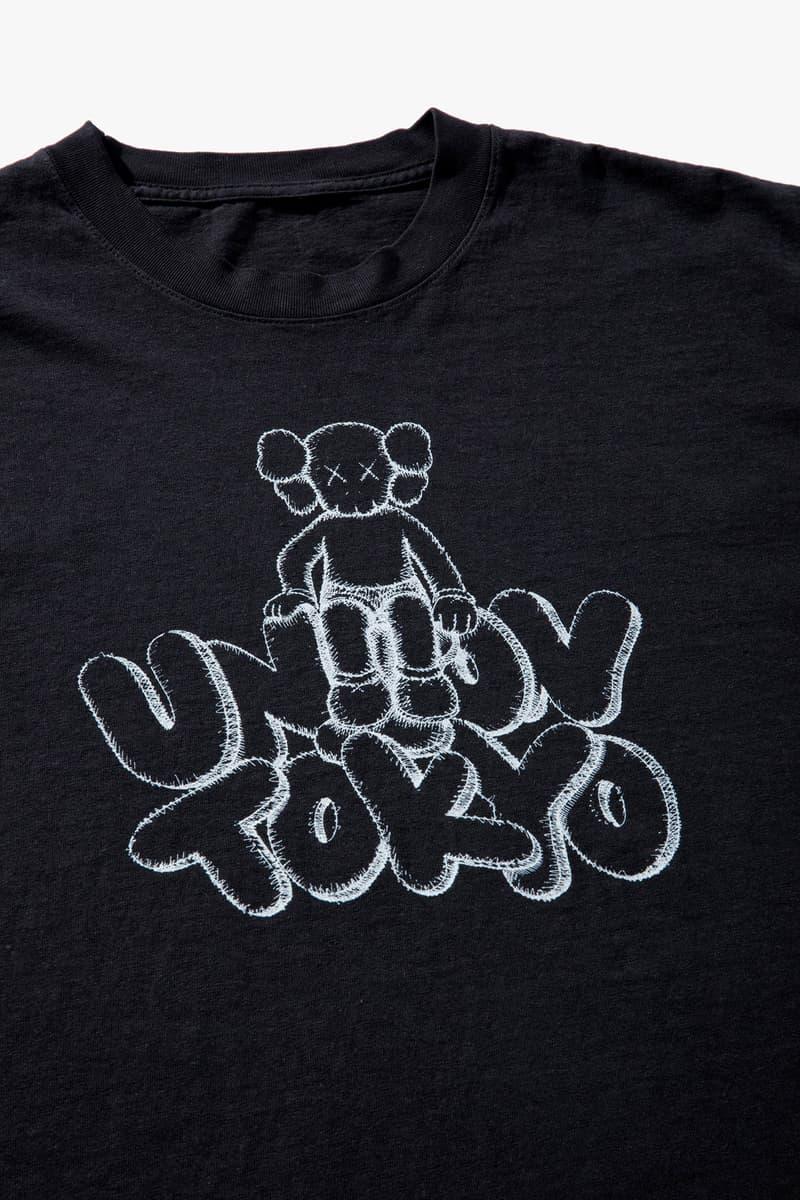 Union tokyo kaws collaboration capsule clothing t shirt los angeles drop celebration april 27 30 2018 drop release date info closer look