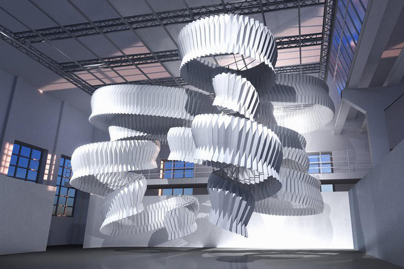 kengo kuma breathing sculpture milan design week air pollution installation art artwork