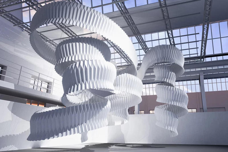 kengo kuma breathing sculpture milan design week air pollution installation art artwork