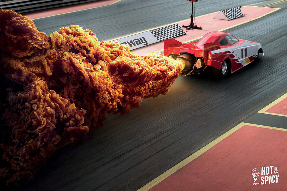 KFC Hong Kong Hot Spicy Fried Chicken Fiery Explosions ad campaign ogilvy mather