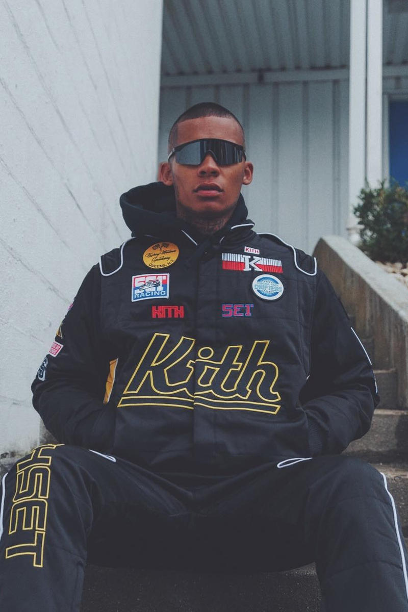 KITH Race Track Inspired Sweatsuit Ronnie Fieg Racing Formula 1 Kith Set Release Details Preview Reveal Buy