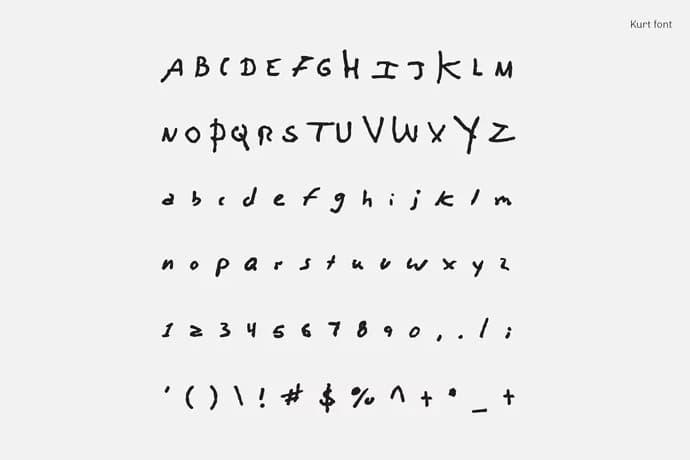 Kurt Cobain David Bowie John Lennon and Leonard Cohen fonts free download