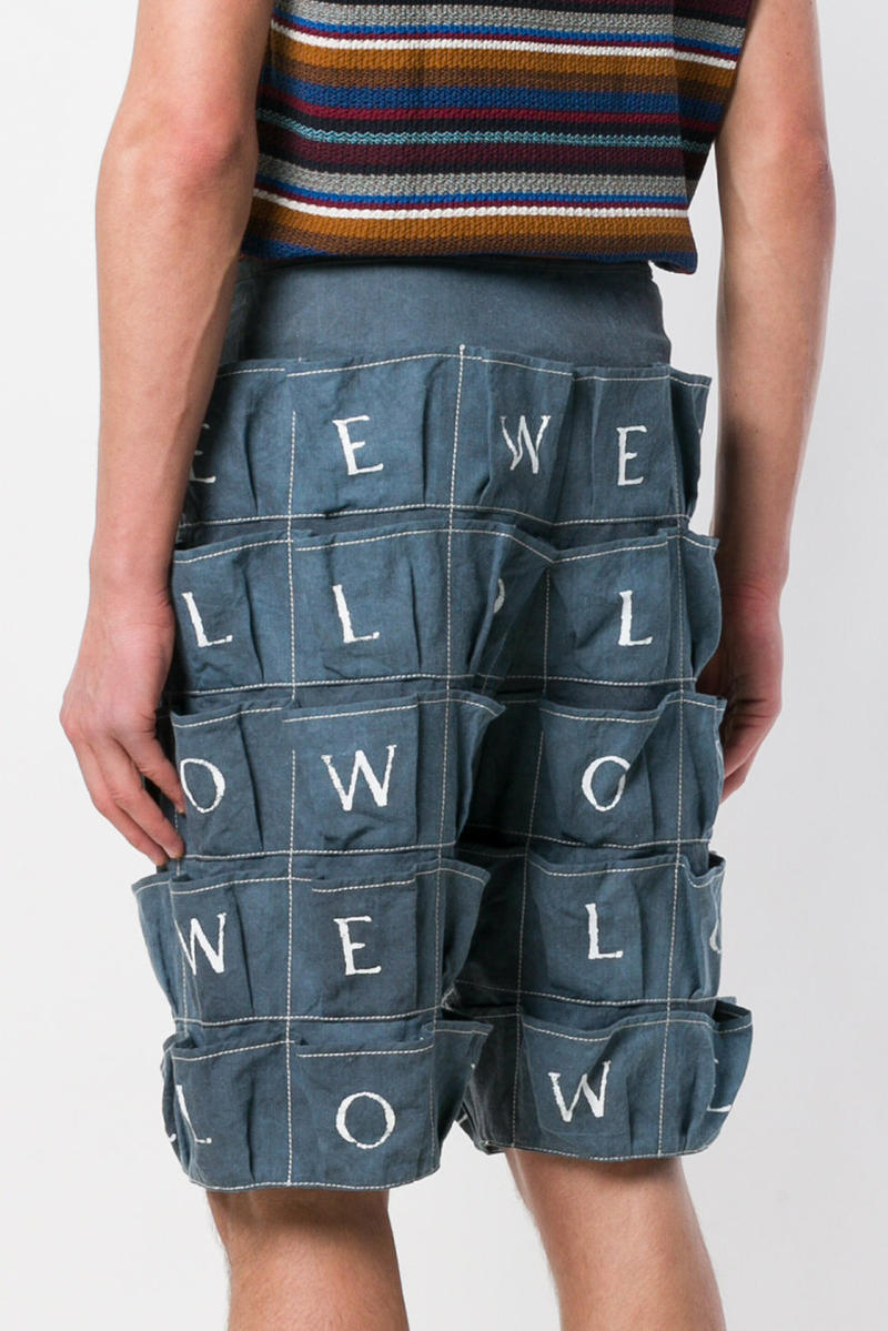 Loewe Spring Summer 2018 Logo Pocket Shorts ss18 release date info drop cargo branding jonathon w anderson multi