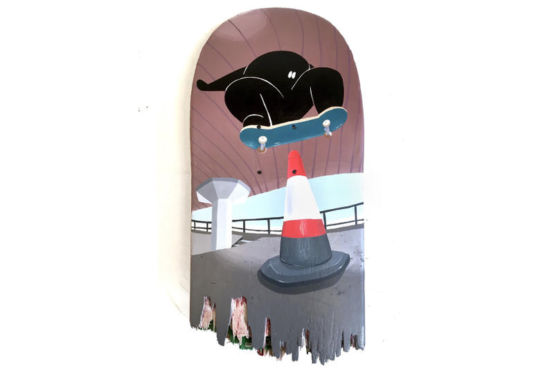 long live southbank blondey mccoy haroshi james jarvis gaurab thakali stolenspace gallery skateboarding art artwork painting illustration