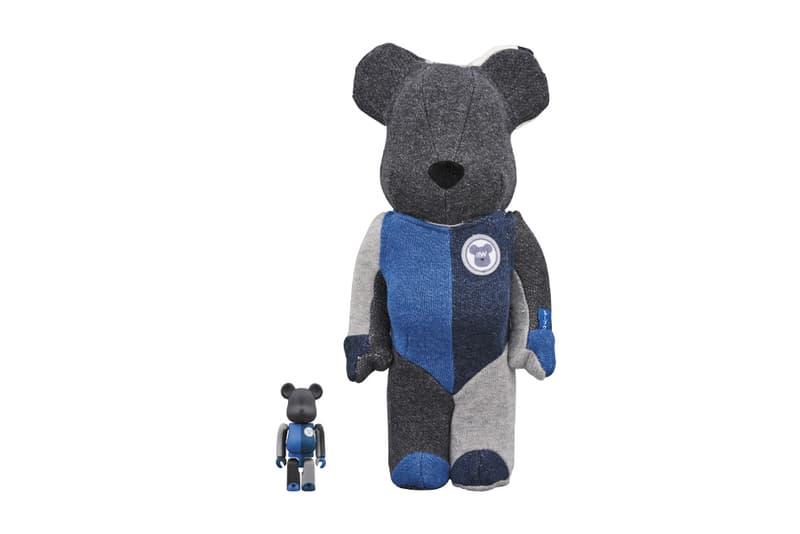 Loopwheeler Medicom Toy BEARBRICKS april 28 2018 release date info drop cotton sweater shirt pattern indigo blue stripe logo branding sendagaya