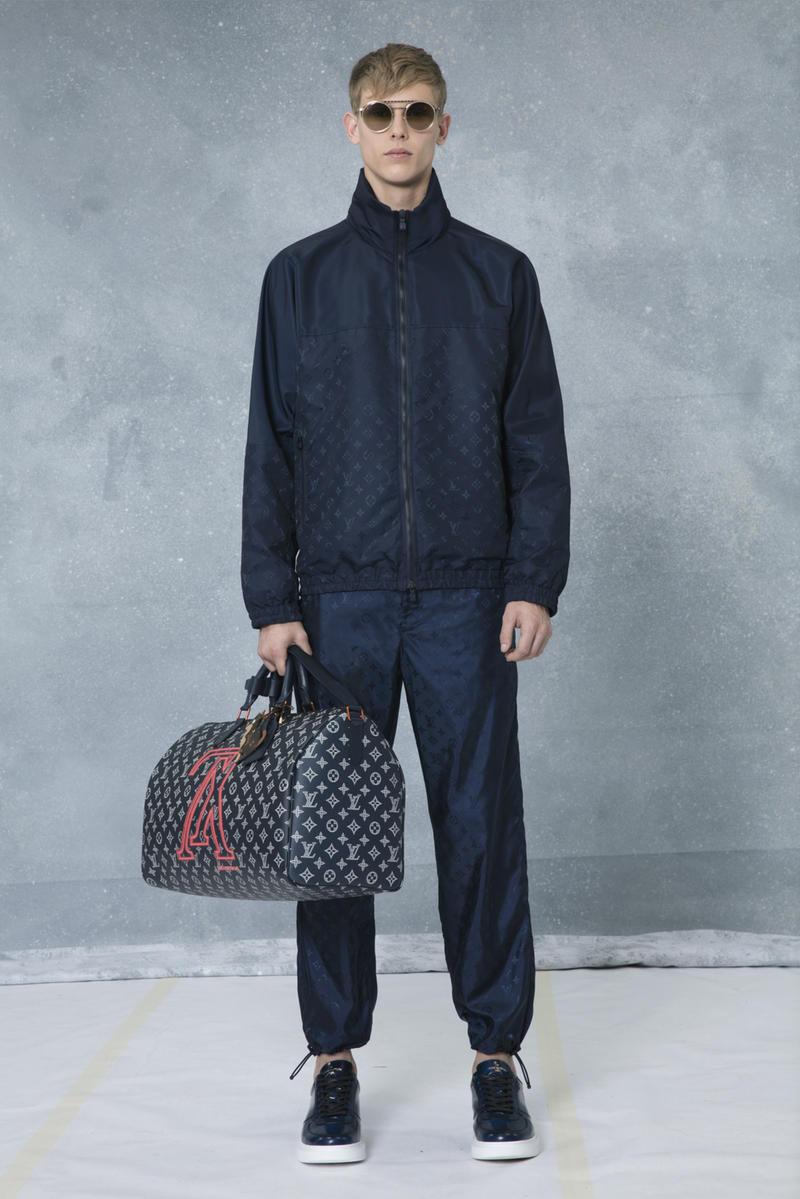 "Louis Vuitton ""Monogram Vivienne Eclipse"" Pre-Fall/Winter 2018 Exclusive Collection White Black Blue Yellow T-Shirt Side Overall Duffle Bag Backpack Watch"
