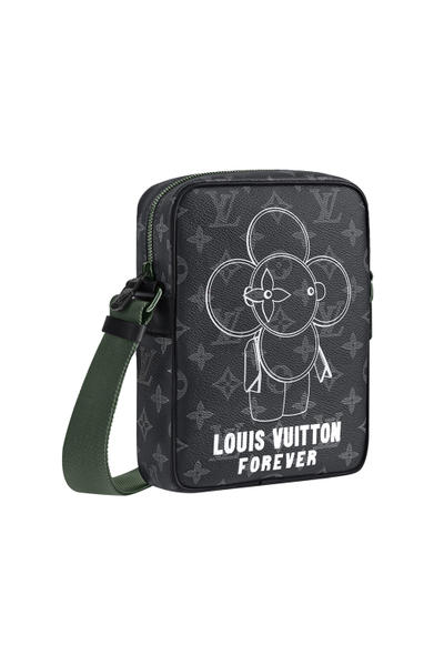 """Louis Vuitton """"Monogram Vivienne Eclipse"""" Pre-Fall/Winter 2018 Exclusive Collection White Black Blue Yellow T-Shirt Side Overall Duffle Bag Backpack Watch"""