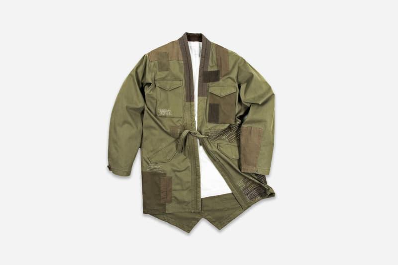 "maharishi ""maha Boro"" Spring/Summer 2018 Lookbook Collection Kimono Baseball Shirt Crew Sweat T-Shirts Cargo Pants How to Buy cop purchase Japan Japanese London streetwear"