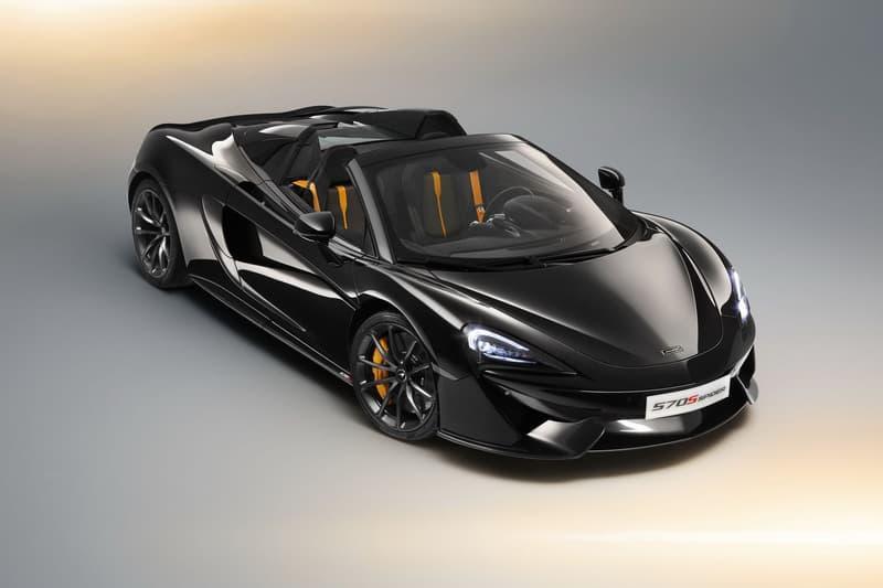 Mclaren 570s Spider Onyx Black Design Edition Carbon Alcantara Orange Na Leather Custom Car Bespoke Customer