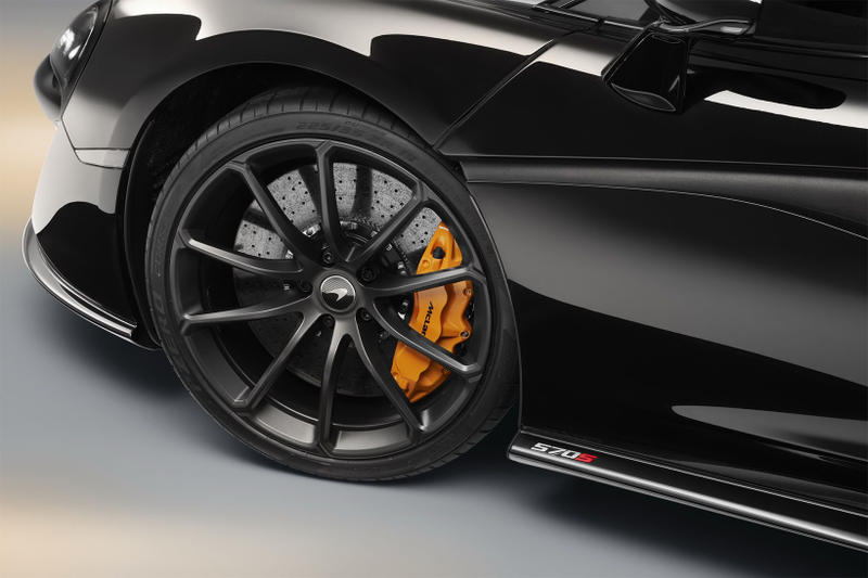 McLaren 570S Spider Onyx Black Design Edition Carbon Alcantara Orange nappa leather custom car bespoke customer price