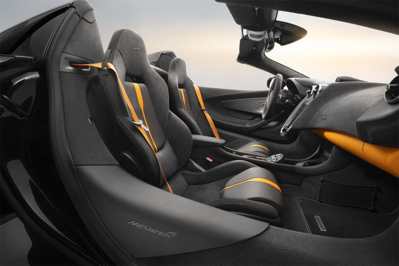 McLaren 570S Spider Onyx Black Design Edition Carbon Alcantara Orange nappa leather custom car bespoke customer price
