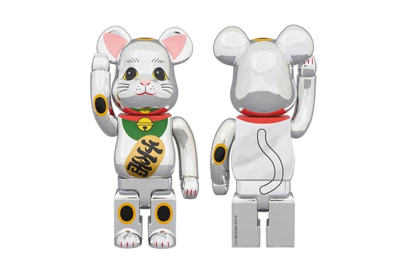 Medicom Toy New Money Cat BEARBRICK silver april 25 2018 release date info drop daruma red silver plated maneki neko