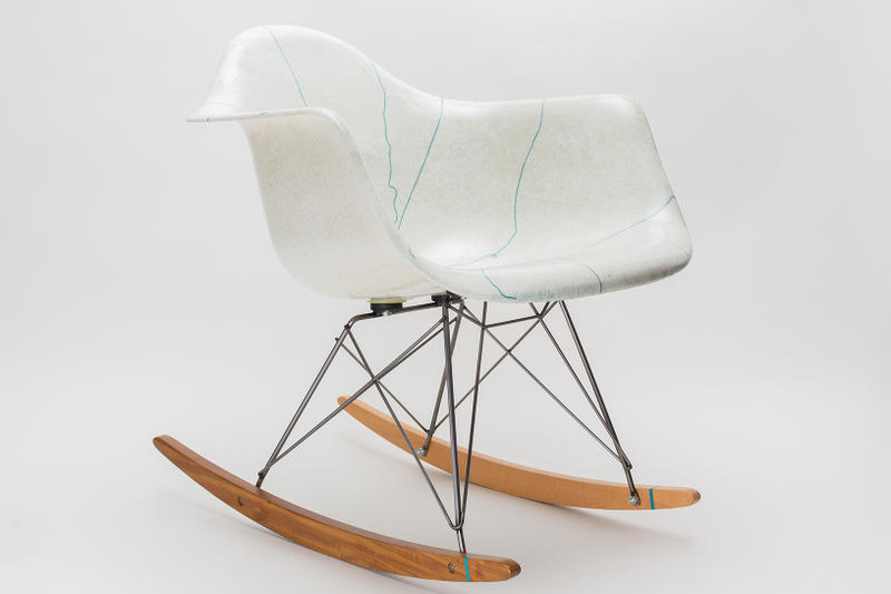 Modernica x Stance Chair Collaboration White Blue Socks Case Study Arm Shell rocker How to Buy Cop Purchase Release Details Information
