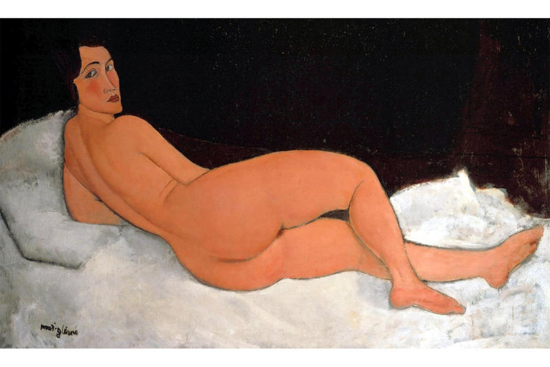 Modigliani Painting All Time Auction Estimate Record sothebys reclining nude 2018 1917