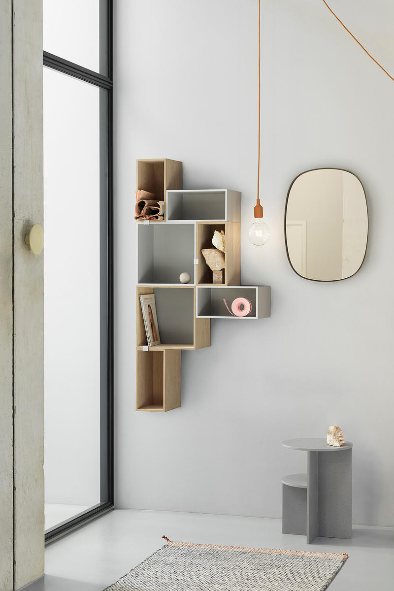"""Muuto """"New Perspectives"""" Collection Furniture Base Table High Pendant Lamp Enfold Sideboard Oslo 3-Seater Corner Sofa Pouf The Dots Metal Workshop Coffee Table"""