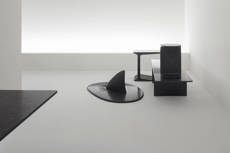 Nendo into marble installation marsotto edizioni milan design week 2018 furniture