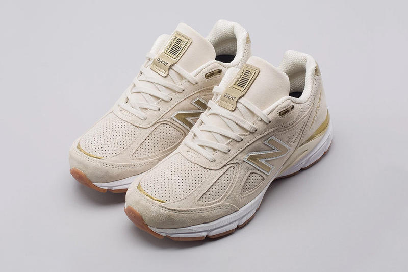 100% authentic d500e a4949 New Balance 990v4 Off White Pigskin Suede gold gum release info sneakers  footwear