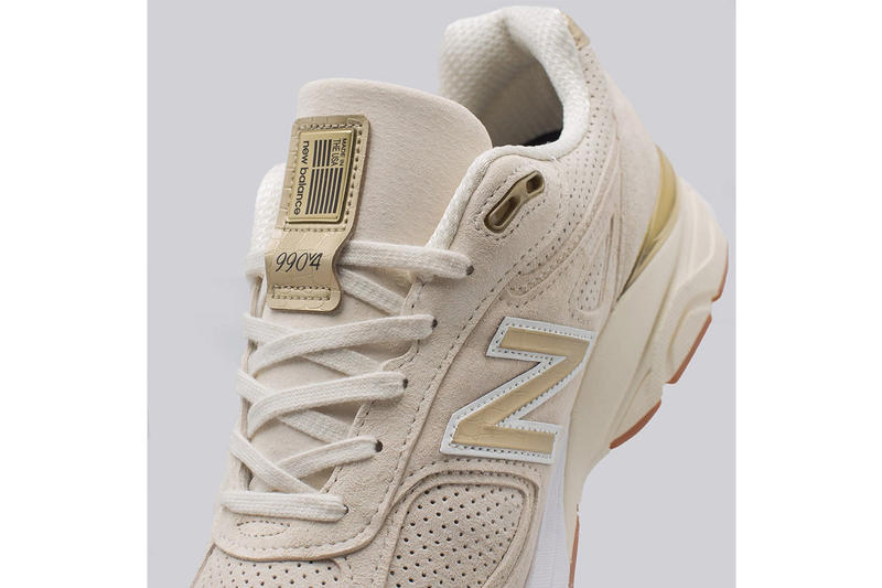 New Balance 990v4 Off White Pigskin Suede gold gum release info sneakers footwear