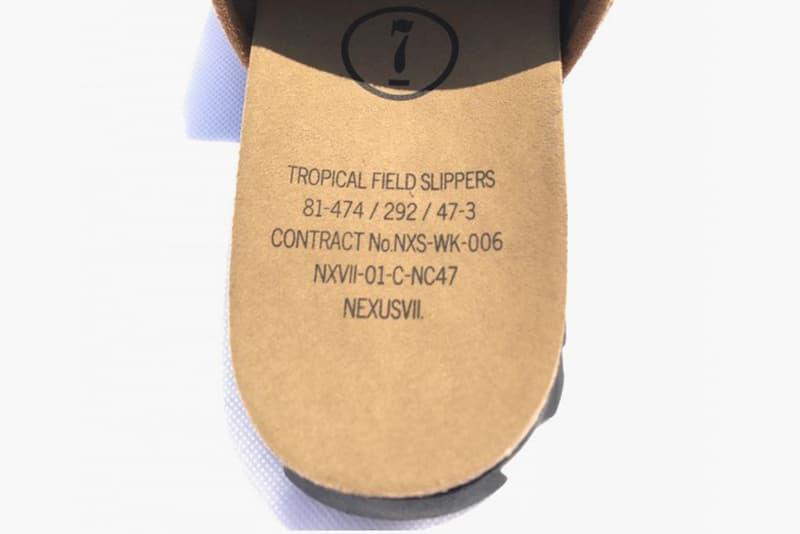 NEXUSVII. Tropical Field Slipper black brown red slides release info