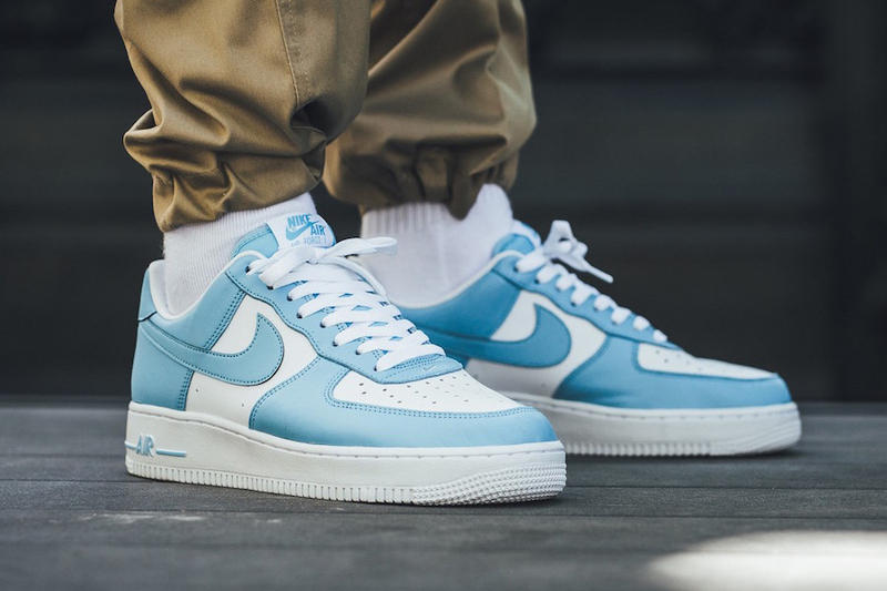 new product f26d6 ff819 Nike Air Force 1 blue gale on foot 2018 footwear nike sportswear unc