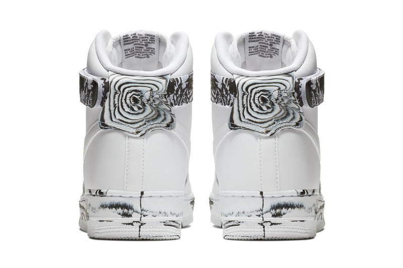 """Nike Air Force 1 High """"Marble"""" Release sand black and white"""