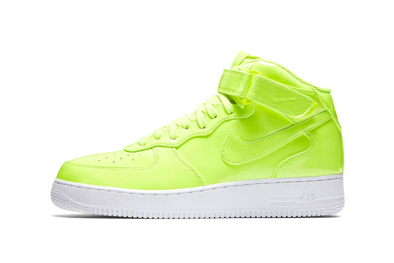 Nike Air Force 1 Mid UV volt white nike sportswear 2018 footwear release date info drop sneakers shoes