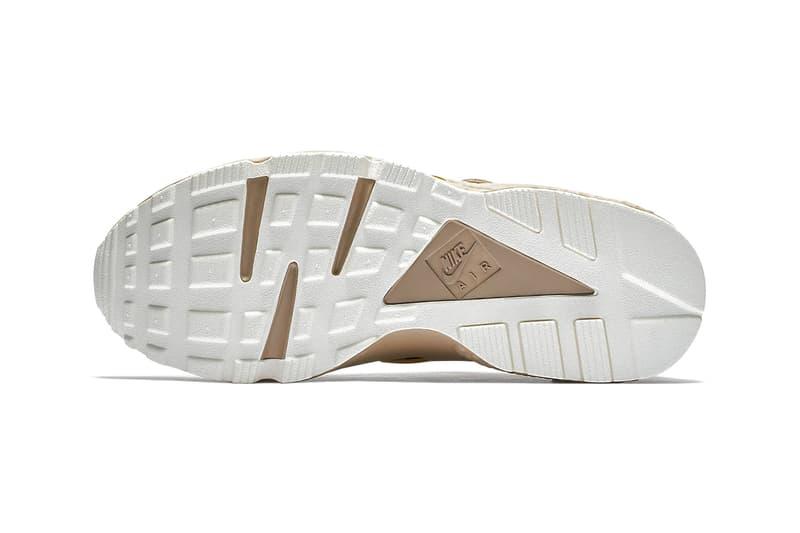 Nike Air Huarache Gold Rush Release info suede metallic gold khaki footwear sneakers
