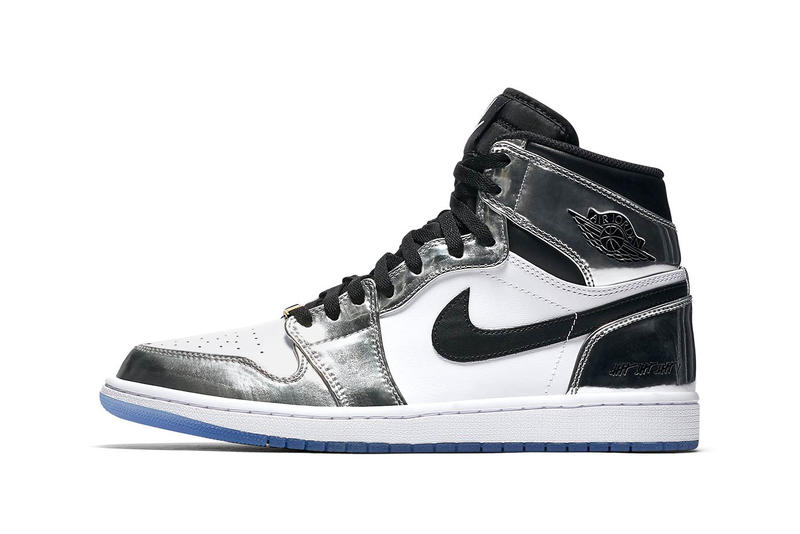Nike Air Jordan 1 Retro High x Kawhi Leonard Sneakers Kicks Trainers Shoes Closer Look Silver Black White Blue Colorway Basketball 2014 MVP