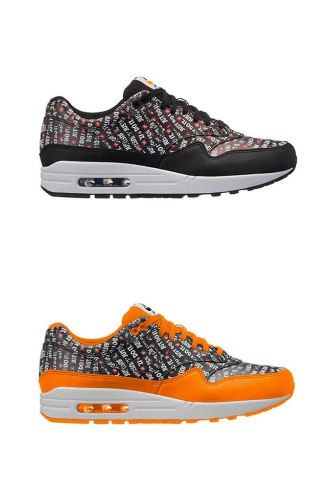 Nike Air Max 1 Just Do It New Colorways Orange Black Red