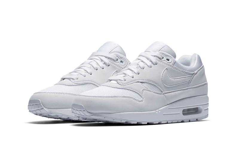 Nike Air Max 1 WMNS Triple White nike sportswear footwear 2018 may release date info drop sneakers shoes footwear