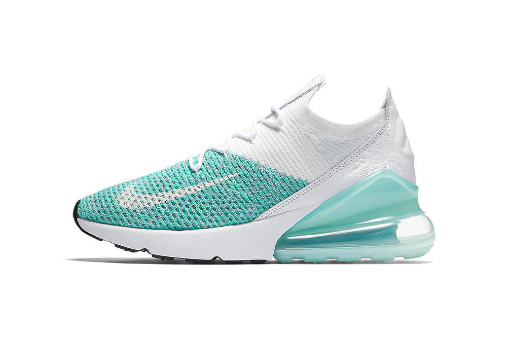 """Nike Air Max 270 Flyknit Now Receives Crisp """"Igloo"""" Colorway"""