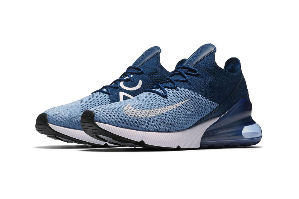 Nike Air Max 270 Flyknit Work Blue footwear nike sportswear 2018 april release date info drop sneakers shoes footwear