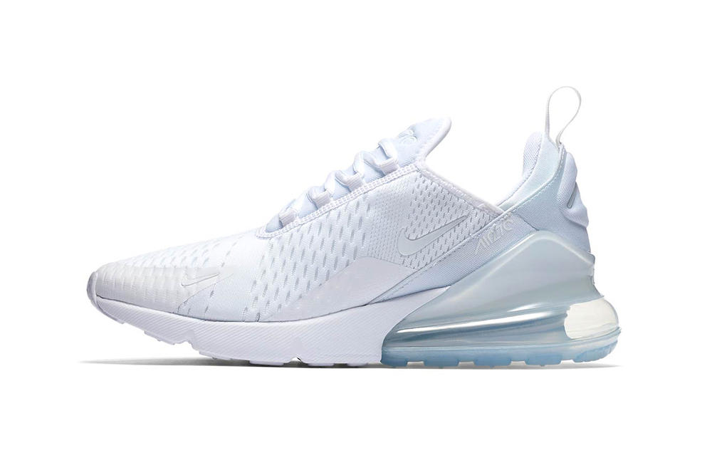 """Nike's Air Max 270 Gets Dipped in """"Triple White"""""""