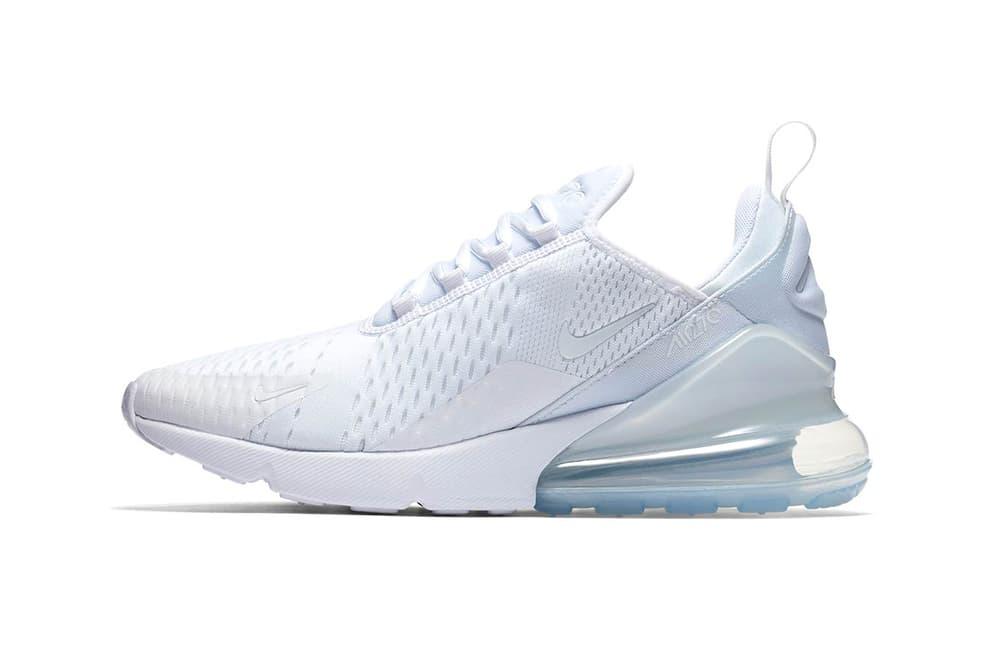 Nike Air Max 270 WMNS triple white footwear 2018 april release date nike sportswear 12 info drop shoes sneakers