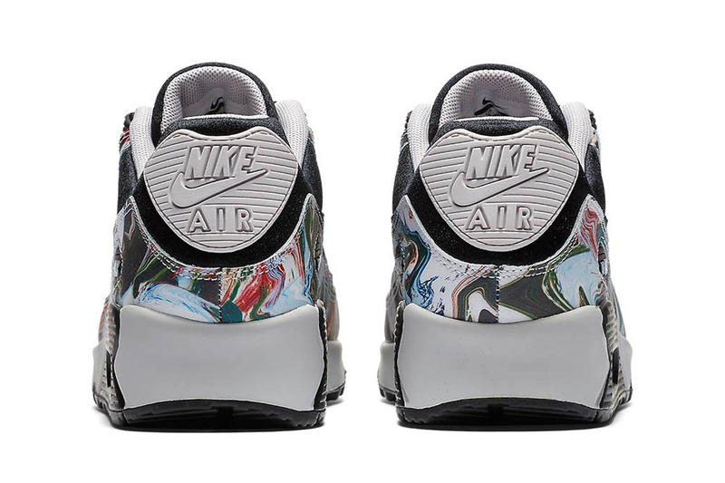 Nike Air Max 90 Marble Dye Colorway Womens Shoes Kicks Trainers Sneakers Release Details Sizing Information How to Cop Purchase Pick Up Buy