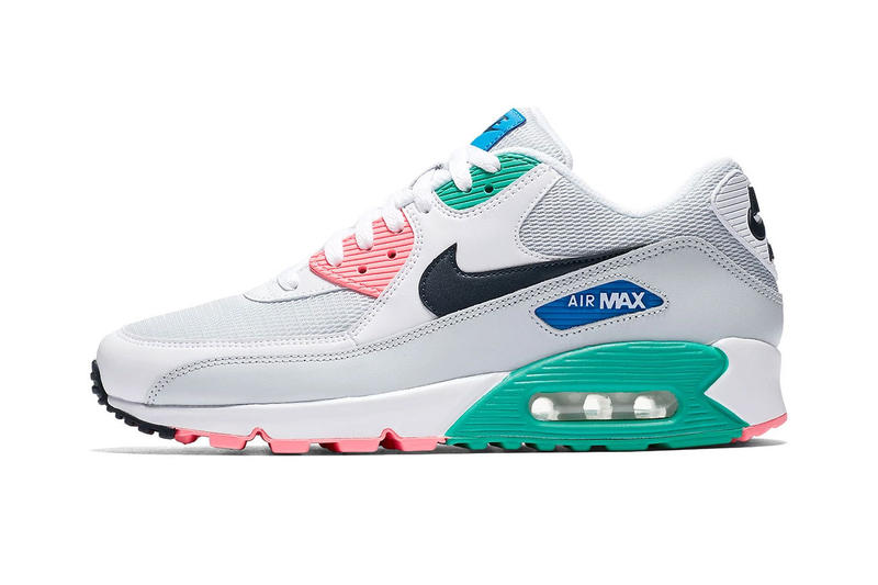 hot sale online 57b09 11d7f Nike Air Max 90 Summer Sea release info white pink green blue grey