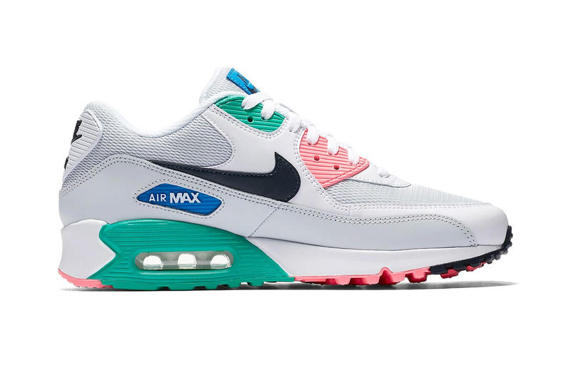 Nike Air Max 90 Summer Sea release info white pink green blue grey