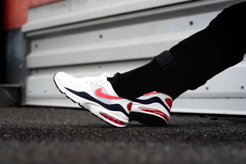 Nike Air Max 93 Habanero Red on foot footwear nike sportswear 2018 release date info drop sneakers shoes footwear