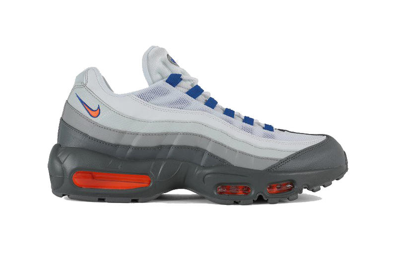 Nike Air Max 95 essential Cool Grey Total Orange White blue navy royal new york mets villa 2018 #749766-033 knicks