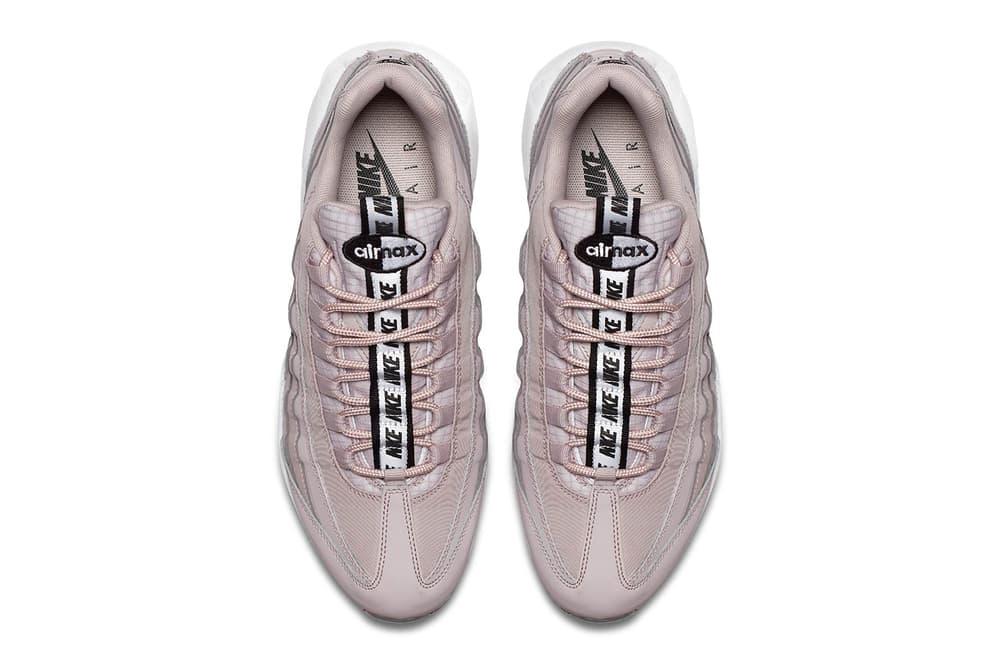 "Nike Air Max 95 ""Pull Tab"" New Colorways wolf grey rose pink tan"