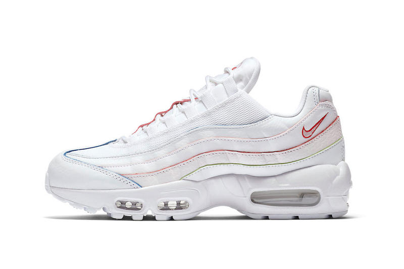 Nike Air Max 95 In White W Red Blue Orange Hypebeast