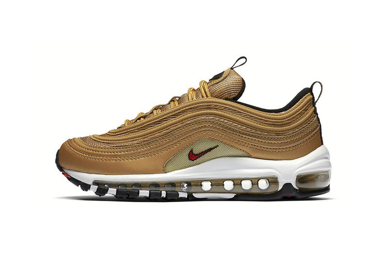 Nike Air Max 97 Metallic Gold Re Release 2018 retro may 17 date info drop sneakers shoes footwear