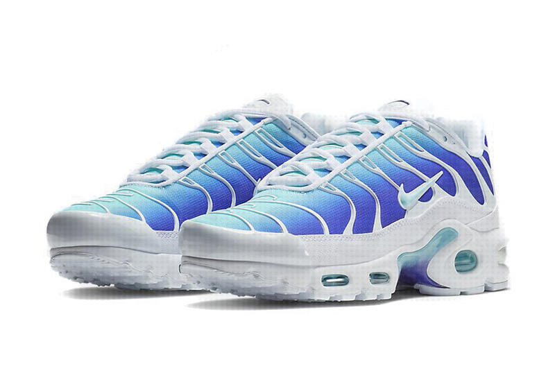 new style c3728 4f1dc Nike Air Max Plus Blue White gradient Release 2018 Sneakers Shoes Footwear